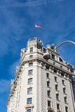 Punto di riferimento esteriore Monum di architettura di CC di Willard Hotel Washington immagini stock libere da diritti
