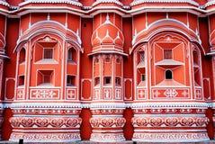 Punto di riferimento famoso del Ragiastan - palazzo di Hawa Mahal, Jaipur, Ragiastan fotografie stock libere da diritti
