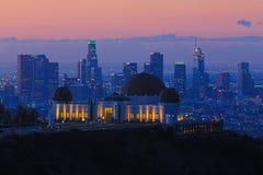 Punto di riferimento Griffith Observatory a Los Angeles, California fotografia stock libera da diritti