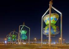 Punto di riferimento di Jedda, monumento antico delle luci Immagine Stock Libera da Diritti