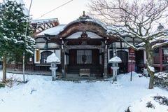 Punto di riferimento storico del tempio di Kokubunji nell'inverno Fotografia Stock