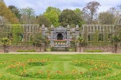 Punto di riferimento storico intorno al castello di Arundel immagine stock