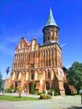Punto di riferimento storico di Pillau del faro prussiano della città immagini stock