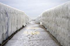 Punto di sparizione del ghiaccio Fotografie Stock Libere da Diritti