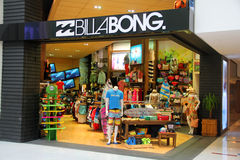 Punto di vendita di Billabong Immagine Stock