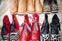 Punto di vendita di un calzolaio Immagini Stock Libere da Diritti