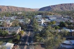 Punto di vista aereo del paesaggio di Alice Spring Northern Territory Australia immagine stock