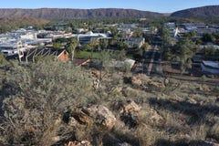 Punto di vista aereo del paesaggio di Alice Spring Northern Territory Australia fotografia stock libera da diritti