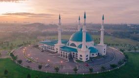 Punto di vista aereo della foto di Masjid Sultan Iskandar Fotografia Stock Libera da Diritti