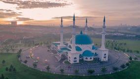 Punto di vista aereo della foto di Masjid Sultan Iskandar Fotografie Stock Libere da Diritti