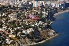 Punto di vista aereo di Edificios de Ricardo Bofill Fotografie Stock Libere da Diritti