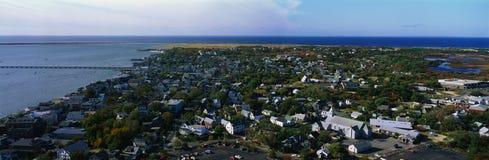 Punto di vista aereo di Provincetown e del Capo Cod, mA Immagine Stock