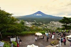Punto di vista al Ropeway di Kachi Kachi con Fujisan Immagini Stock Libere da Diritti