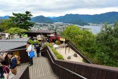 Punto di vista al Ropeway di Kachi Kachi con Fujisan Fotografia Stock Libera da Diritti