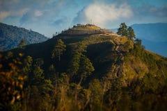 Punto di vista alle montagne di Doi Ang Khang, Chiang Mai Fotografie Stock