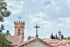 Punto di vista di Almeida, villaggio portoghese immagini stock libere da diritti