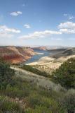 Punto di vista ardente della gola, Utah Immagine Stock