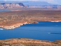 Punto di vista di Ariel del lago Powell e Glen Canyon National Recreation Area Immagine Stock Libera da Diritti