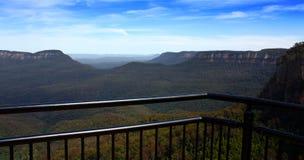 Punto di vista blu della montagna Immagine Stock Libera da Diritti
