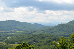Punto di vista blu di Ridge Mountains Fotografia Stock Libera da Diritti