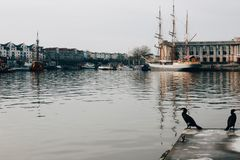 Punto di vista di Bristol Harbourside, Regno Unito immagine stock