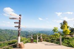 Punto di vista chilometro 12 a Mae Fah Luang, Chiang Rai, Tailandia Fotografia Stock Libera da Diritti