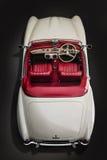 Punto di vista classico di Mercedes Benz 190sl-Top dell'automobile fotografia stock libera da diritti