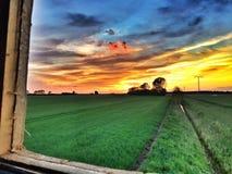 Punto di vista colourful dei cacciatori dalla cabina Fotografie Stock Libere da Diritti