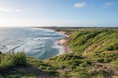 Punto di vista costiero di Phillip Island da capo Woolamai, Australia Fotografie Stock Libere da Diritti