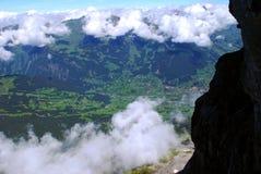 Punto di vista degli scalatori della roccia Immagini Stock Libere da Diritti