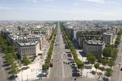 Punto di vista dei campioni Elysees a Parigi, Francia Fotografia Stock
