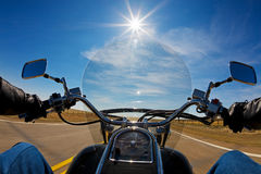 Punto di vista dei motociclisti Fotografie Stock
