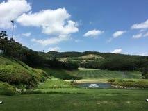 punto di vista del club di golf fotografie stock