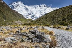 Punto di vista del cuoco National Park, Nuova Zelanda di Mt Fotografia Stock