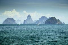 Punto di vista del gruppo di isola in Tailandia Immagini Stock