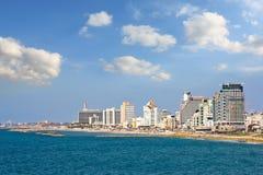 Punto di vista del lato di mare di Tel Aviv Immagine Stock