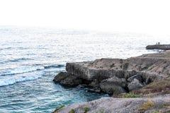 Punto di vista del mare o del mare della spiaggia Landsape dell'Oman e della natura Fotografia Stock Libera da Diritti