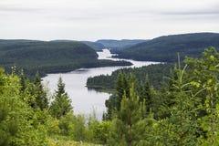 Punto di vista del paesaggio, Kanada di Parc Maurice Fotografie Stock Libere da Diritti