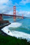 Punto di vista del ponticello di cancello dorato Fotografia Stock Libera da Diritti