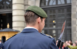 Punto di vista del primo piano di un soldato Fotografia Stock Libera da Diritti