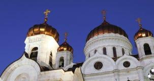punto di vista del salvatore del christ della cattedrale stock footage
