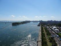 Punto di vista del san Laurent River dalla torre di orologio Fotografia Stock Libera da Diritti
