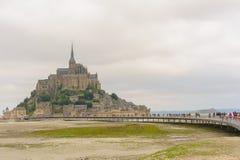 Punto di vista del san Michel di Mont fotografie stock
