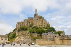 Punto di vista del san Michel di Mont fotografia stock libera da diritti