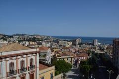 Punto di vista del san Remy di Bastione a Cagliari, in Sardegna Immagine Stock Libera da Diritti
