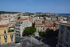 Punto di vista del san Remy di Bastione a Cagliari, in Sardegna Immagini Stock Libere da Diritti