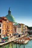 Punto di vista del San Simeone Piccolo a Venezia, Italia Immagini Stock Libere da Diritti