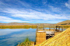 Punto di vista del Titicaca Fotografie Stock Libere da Diritti