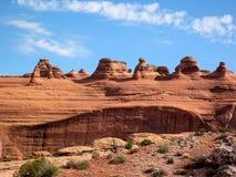 Punto di vista delicato dell'arco, arché parco nazionale, Utah, U.S.A. fotografia stock