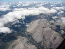 Punto di vista dell'aeroplano di Rocky Mountain Immagine Stock